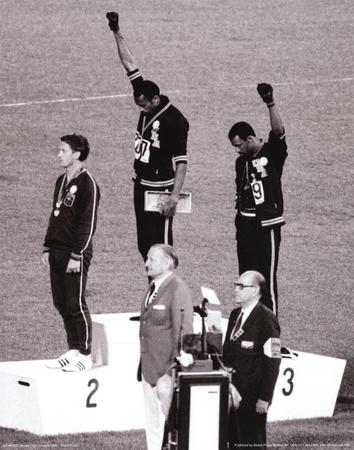 Black Power (Tommie Smith & John Carlos, Olympics, 1968) Photo Print Poster Masterprint