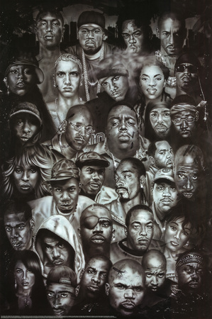 Rap Gods (Rapper Collage) Music Poster Print - Buy this poster at AllPosters.com