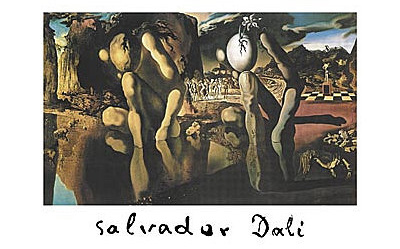Salvador Dali (Metamorphosis of Narcissus, Huge) Art Poster Print