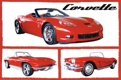 Buy Chevy Corvettes (Fabulous) Art Poster Print at AllPosters.com