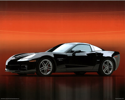 Buy 2006 Chevy Corvette Z06 Black Car Art Print Poster at AllPosters.com