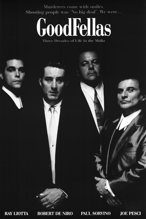 Goodfellas Movie Murderers Come with Smiles Poster Print Poster