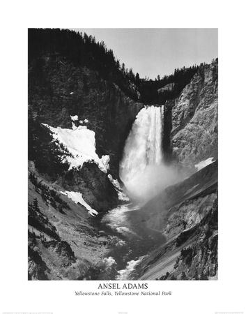 Ansel Adams Yellowstone Falls Park Art Print POSTER Poster
