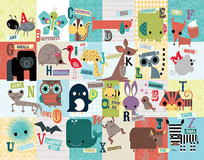 Animal ABC - Art Print