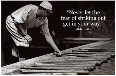 Babe Ruth Striking Out Famous Quote Archival Photo Poster Masterprint