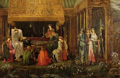 Jones - Death of King Arthur Art Print Poster