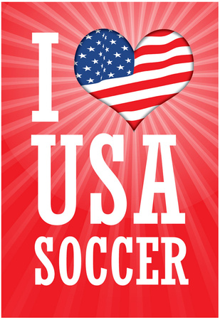 Buy I Love USA Soccer (World Cup, Red) Sports Poster Print at AllPosters.com