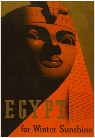 Egypt for Winter Sunshine Travel Vintage Ad Poster Print