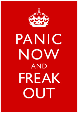 Panic Now And Freak Out Keep Calm Inspired Print Poster