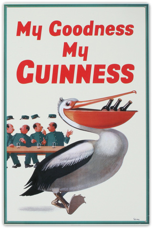 My Goodness My Guinness Beer Pelican Tin Sign