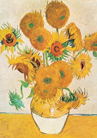 Vase with Fifteen Sunflowers - Art Print