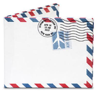 Air Mail Par Avion Tyvek Mighty Wallet Wallet