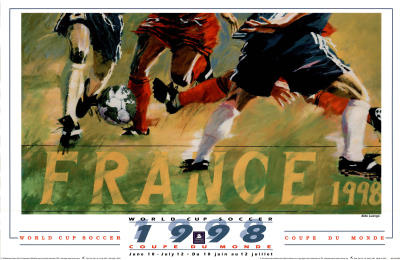 Buy 1998 World Cup Soccer France at AllPosters.com