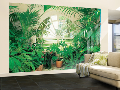Winter Garden Landscape Huge Wall Mural Art Print Poster