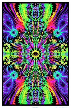 Wormhole Blacklight Poster Print