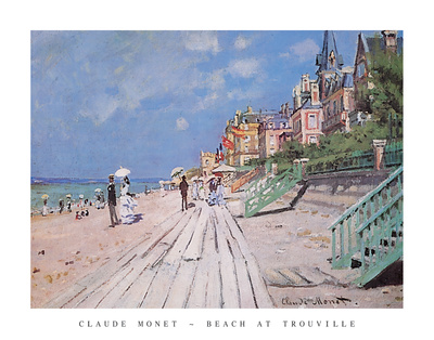 Beach at Trouville, 1870 Poster