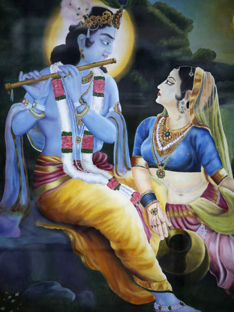 Picture of Hindu Gods Krishna and Rada, India, Asia