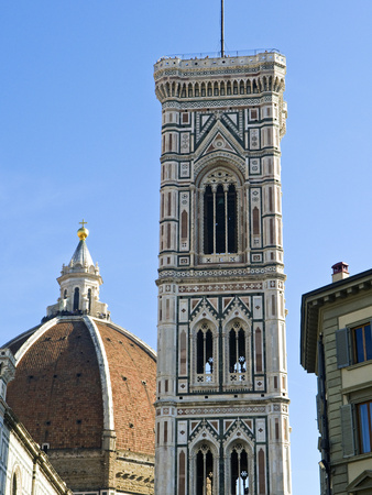 Campanile Di Giotto and Cathedral of Santa Maria Del Fiore (Duomo), UNESCO World Heritage Site, Flo