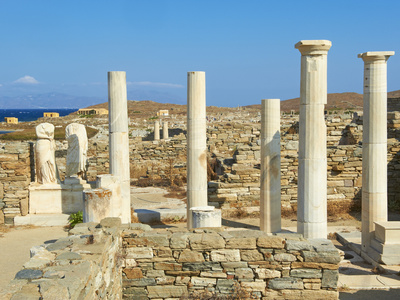 House of Cleopatra, Quarter of the Theatre, Delos, UNESCO World Heritage Site, Cyclades Islands, Gr