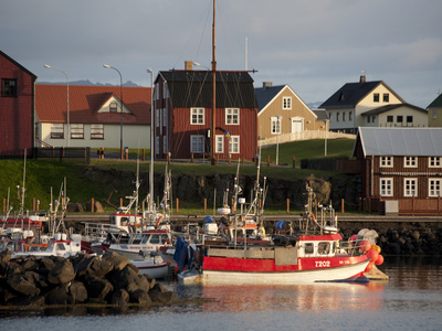 Inner Harbor of Port of Stykkisholmur, Iceland