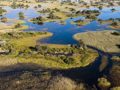 Aerial View of Okavango Delta, Botswana, Africa