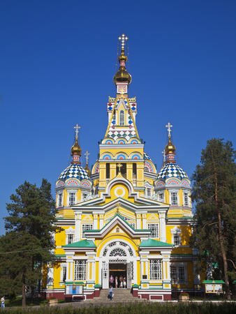 Kazakhstan, Almaty, Panfilov Park, Zenkov Cathedral Previously known as Ascension Cathderal, Built