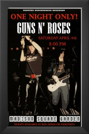 Buy Guns N Roses Madison Square Garden Music Poster Print at AllPosters.com