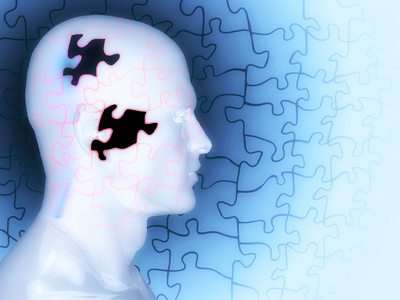 Concept of Memory Loss as a Puzzle with Missing Pieces