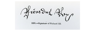 Signature of Richard Iii (1452-85) (B/W Photo)