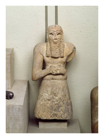 Statue of Ginak, Prince of Edin, from Iraq, 2800-2300 BC (Stone)