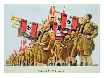 Fanfare of the Hitler Youth, Nazi Germany, 1935 (Photo)