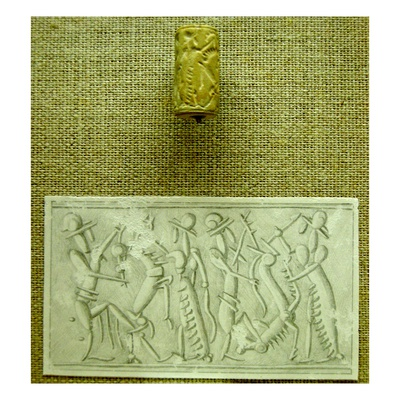 Cylinder Seal with Impression (Faience)