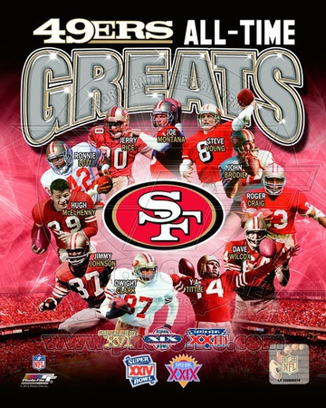 San Francisco 49ers All-Time Greats Composite