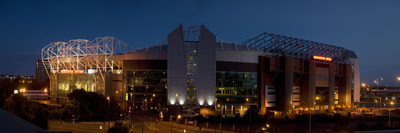Buy Football Stadium Lit Up at Night, Old Trafford, Greater Manchester, England at AllPosters.com