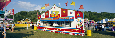 Carnival Booth in Public Space, Deposit, Broome County, New York State, USA
