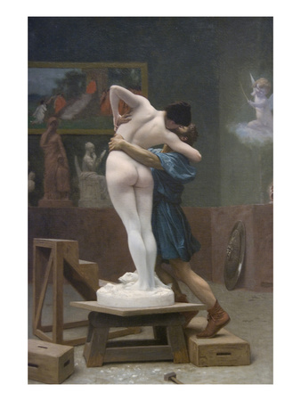 lovers statue painting