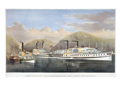 Hudson River by Currier and Ives.