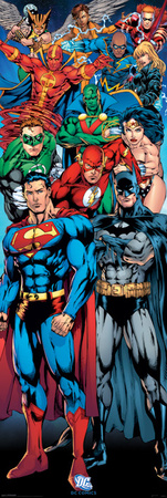 DC Comics - Justice League Of America Comic Books Door Poster