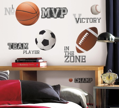 Buy All Star Sports Saying Peel & Stick Wall Decals at AllPosters.com