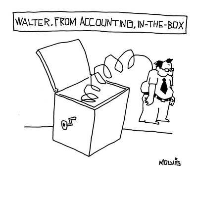 Walter from Accounting, In-a-box. - New Yorker Cartoon