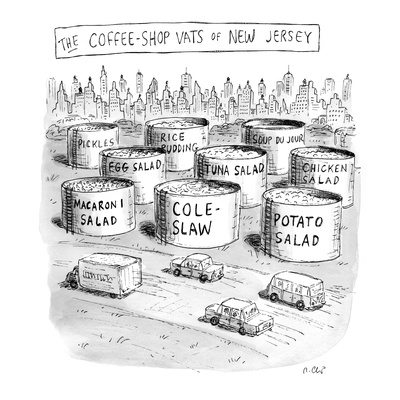 The Coffee Shop Vats of New Jersey - New Yorker Cartoon