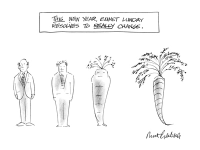This Year, Emmet Lunday Resolves to Really Change - New Yorker Cartoon