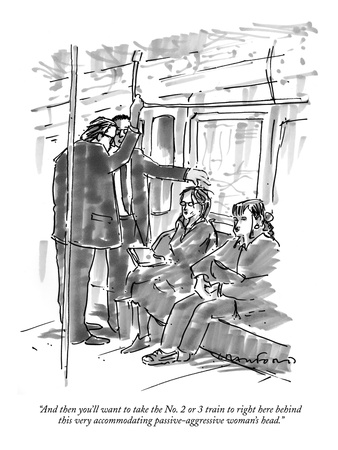 """And then you'll want to take the No. 2 or 3 train to right here behind th…"" - New Yorker Cartoon"