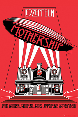 Led Zeppelin -Mothership College Music Poster