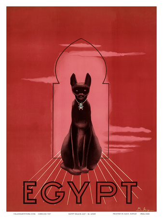 Buy Egypt Black Cat c.1947 at AllPosters.com