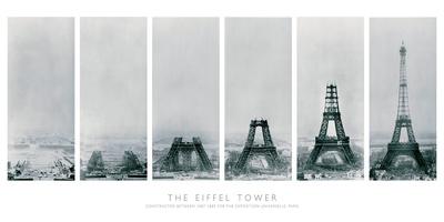 Construction of the Eiffel Tower Art Print