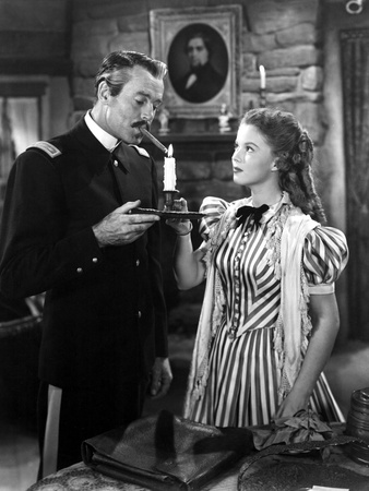 Fort Apache, Henry Fonda, Shirley Temple, 1948, Daughter Lighting Father's Cigar