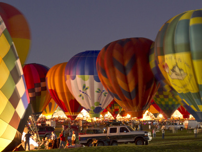 Nightglow at the Albuquerque Hot Air Balloon Fiesta, New Mexico, USA