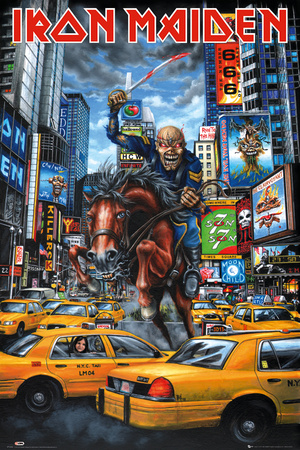 Poster Iron Maiden New York..