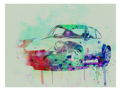 Buy Porsche 911 Watercolor 2 at AllPosters.com